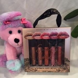PARIS HILTON SWEET CORAL 5 PIECE LIP GLOSS SET